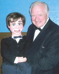 Ventriloquist Ed Thomas and Hugo